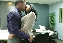 Extremely Hot Audrey Bitoni Had Sex In The Office With Her Colleaugue
