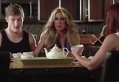 Stepmom Janet Mason And Bestfriend Farrah Dahl In Threesome Sex