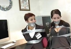Borderland Bound Security Girls Tape Gagged